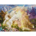 """Диамантен Гоблен """"Цветен лъв"""" - 40 x 30 см, Квадратни мъниста-Copy"""