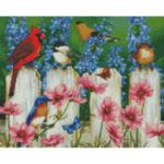 "Диамантен Гоблен ""Коте, гушнало цвете"" - 30 x 40 см, Кръгли мъниста-Copy"