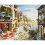 Визуализация на елмазен гоблен Крайбрежната улица