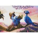 "Диамантен Гоблен ""Лакомо Кученце"" - 35 x 45 см, Кръгли мъниста-Copy"