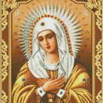 Визуализация на диамантен гоблен Богородица