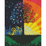 """Диамантен Гоблен """"Цветна Приказка"""" - 40 x 50 см, Кръгли мъниста-Copy"""