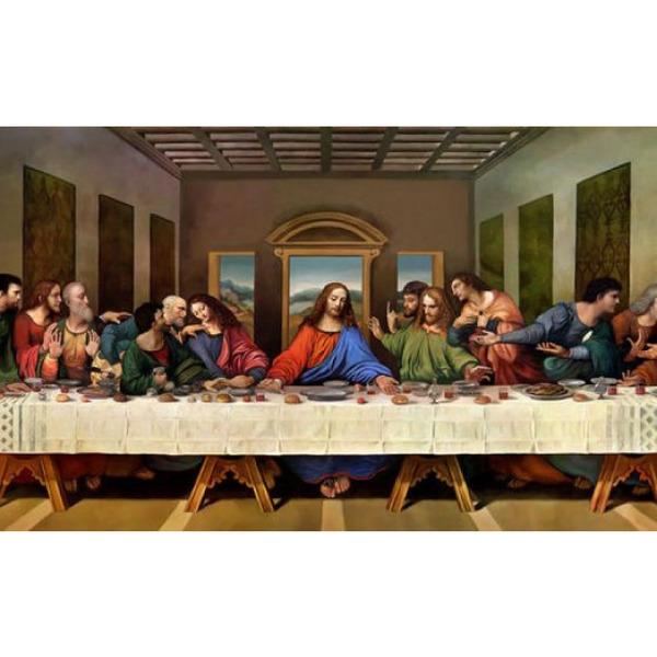 """Диамантен Гоблен """"Тайната Вечеря"""" - 104 x 45 см, Кръгли мъниста"""
