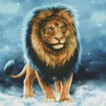 Визуализация на елмазен гоблен Лъв