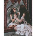 "Диамантен Гоблен ""Богородица"" - 40 x 50 см, Кръгли мъниста-Copy"