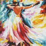 Визуализация на диамантен гоблен Танц