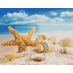 "Диамантен Гоблен ""Морски Релакс"" - 33 x 50 см, Кръгли мъниста-Copy"
