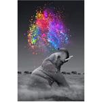 """Диамантен Гоблен """"Слон"""" - 30 x 45 см, Квадратни мъниста"""