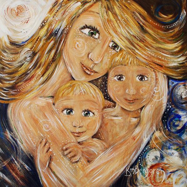 """Диамантен Гоблен """"Майка"""" - 50 x 50 см, Кръгли мъниста"""