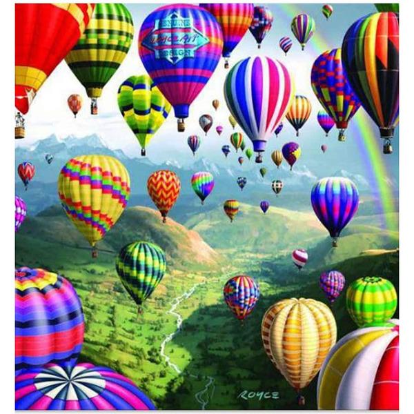 """Диамантен Гоблен """"Балони"""" - 40 x 40 см, Кръгли мъниста"""