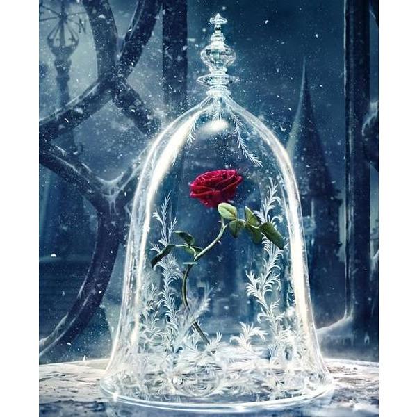 """Диамантен Гоблен """"Вечната Роза"""" - 30 x 40 см, Квадратни мъниста"""