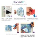 """Диамантен Гоблен """"Влюбени Фламингота"""" - 30 x 40 см, Кръгли мъниста-Copy"""