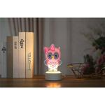 Диамантена Лампа Снежен човек - 14 х 25 см, Кръгли мъниста-Copy