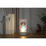 Диамантена LED Лампа Бухалче с панделка - 20 х 9.5 см, Кръгли мъниста-Copy