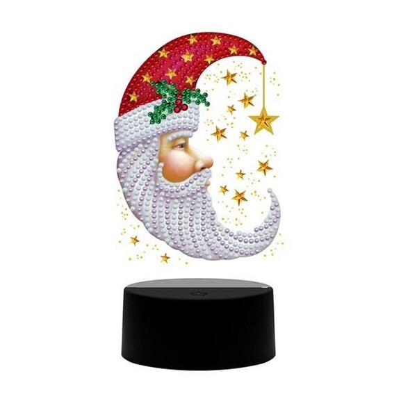 Диамантена LED Лампа Дядо Коледа - 19.3 х 8.8 см, Кръгли мъниста