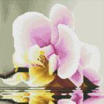 Визуализация на елмазен гоблен Орхидея