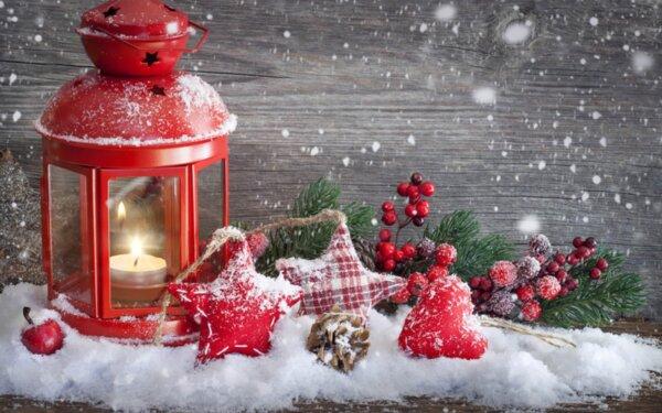 "Диамантен Гоблен ""Коледен дух"" - 50 x 70 см, Кръгли мъниста"