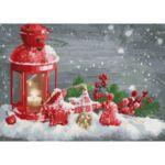 Визуализация на елмазен гоблен Коледен дух