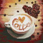 Визуализация на диамантен гоблен На кафе