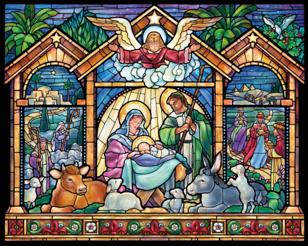 """Диамантен Гоблен """"Рождество"""" - 52 x 62 см, Кръгли мъниста"""