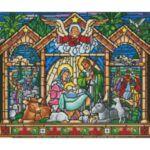 Визуализация на елмазен гоблен Рождество