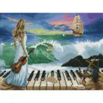 Визуализация на елмазен гоблен Музика