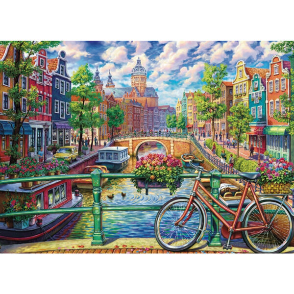 "Диамантен Гоблен ""Амстердам"" - 30 x 40 см, Квадратни мъниста"