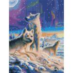 Визуализация на елмазен гоблен Вълци