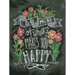 Визуализация на елмазен гоблен Мотивация за щастие