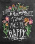 Диамантен гоблен Мотивация за щастие 30 x 40 см