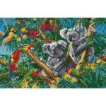 Визуализация на елмазен гоблен Тропическа джунгла