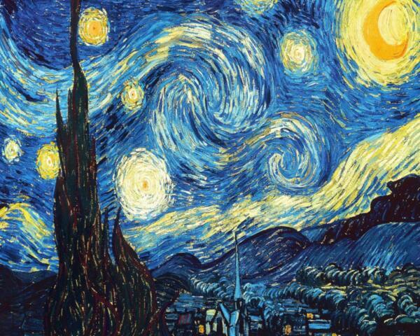 """Елмазен Гоблен """"Звездна нощ"""" - 40 x 32 см, Квадратни мъниста"""