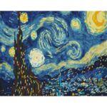 Визуализация на елмазен гоблен Звездна нощ