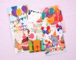 Поздравителни картички за рожден ден с кръгли блестящи мъниста