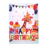 Блестяща диамантена картичка за рожден ден с кръгли мъниста