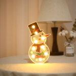 Диамантена лампа Снежен човек с блестящи мъниста