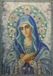 Диамантен гоблен Богородица в синьо 40 х 50 см