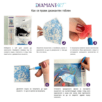Как се изработва детският диамантен гоблен нагледно
