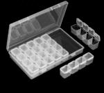 Органайзер за съхранение на диамантени мъниста - 28 гнезда