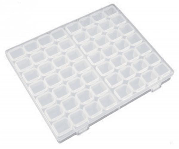 Кутия за съхранение на диамантени мъниста - 56 гнезда