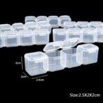Размери на контейнерите за съхранение на блестящи мъниста - 56 гнезда