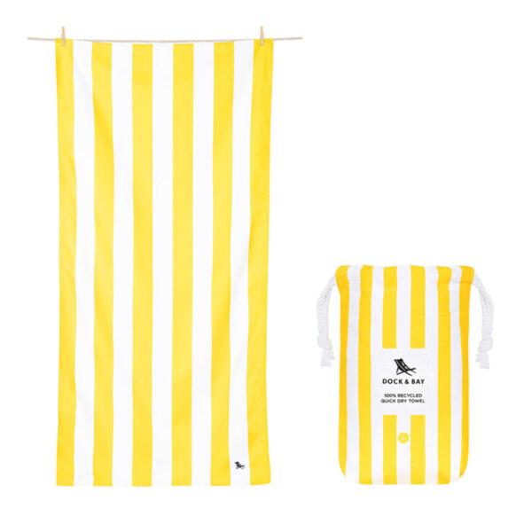 Бързосъхнеща кърпа за плаж Жълто