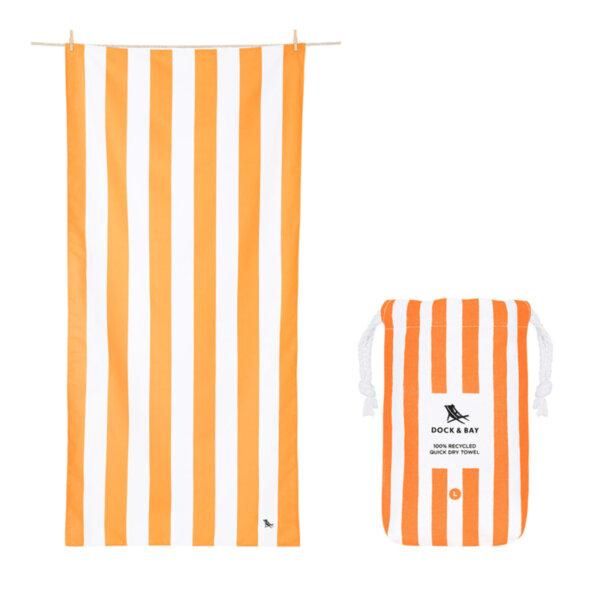 Бързосъхнеща кърпа за плаж Оранж