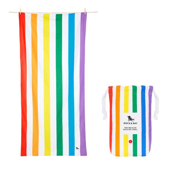 Бързосъхнеща кърпа за плаж Рейнбоу