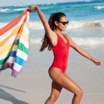 Бързосъхнеща кърпа за плаж Зелено Лято-Copy
