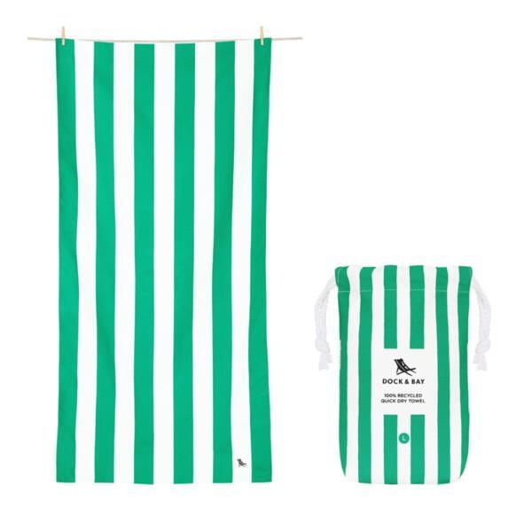 Бързосъхнеща кърпа за плаж Зелено