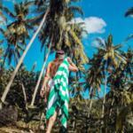 Бързосъхнеща кърпа за плаж Жълто-Copy