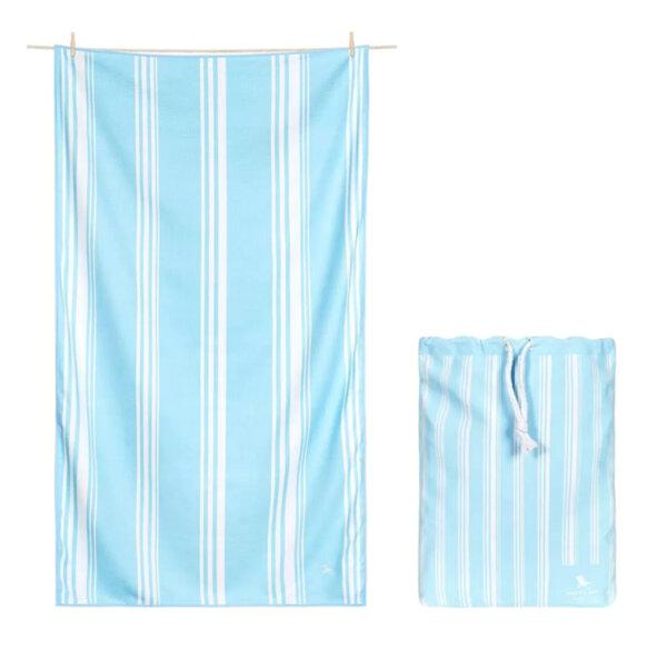 Бързосъхнеща кърпа за баня Синьо небе