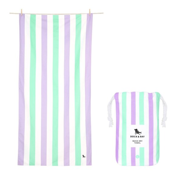 Бързосъхнеща кърпа за плаж Лавандула