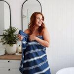 Бързосъхнеща кърпа за баня Синьо Пачули